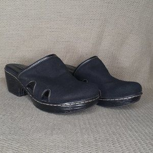 B.O.C Born Black Cutout Clogs Mules Shoes